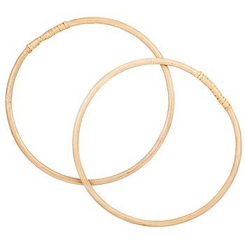 Anses de sac en bambou, 20,5 cm Ø, 1 paire