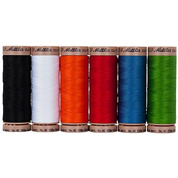 Mettler Silk Finish Cotton Set de fil à coudre 'couleurs primaires', grosseur : 40