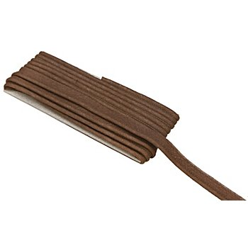 buttinette Baumwoll-Paspelband, braun, 2,4 mm Ø, 5 m