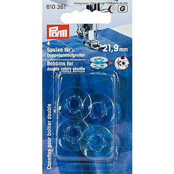 Prym Nähmaschinenspulen für Doppel-Umlaufgreifer, Ø 21,9 mm, Höhe: 9 mm, Inhalt: 4 Stück