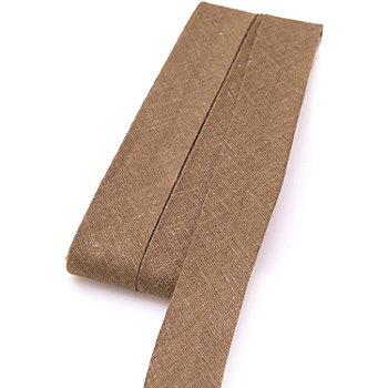 buttinette Baumwoll-Schrägband, hellbraun, Breite: 2 cm, Länge: 5 m