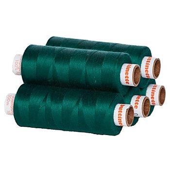 buttinette Universal-Nähgarn, Stärke: 100, 5er-Pack, petrol