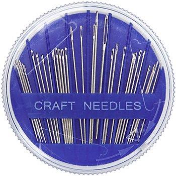 buttinette Aiguilles à coudre, 0,7 - 1,1 mm, longueur : 31 - 51 mm, contenu : 30 pièces