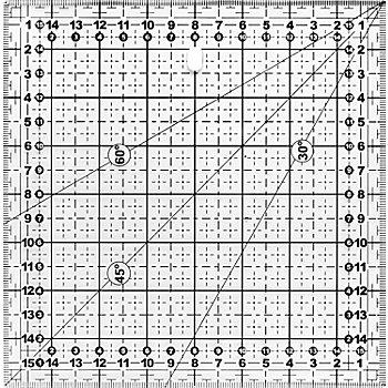 buttinette Règle de découpe, avec graduation en cm, dim. : 16 x 16 cm