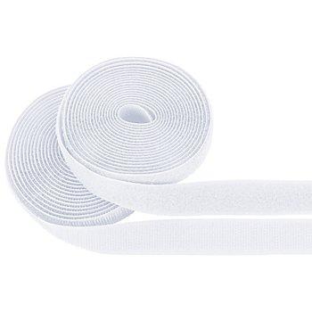buttinette Klettverschlussband, zum Annähen, weiß, Breite: 2 cm, Inhalt: je 3 m