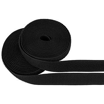 buttinette Klettverschlussband, zum Annähen, schwarz, Breite: 2 cm, Inhalt: je 3 m
