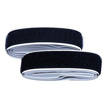 buttinette Klettverschlussband, selbstklebend, schwarz, Breite: 2 cm, Inhalt: je 1 m