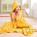 buttinette Kapuzenbadetuch, gelb, 140 x 140 cm