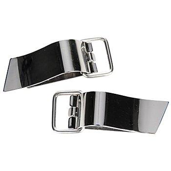 buttinette Fermoirs à clip avec anneau, dim. : 15 x 47 mm, contenu : 2 pièces