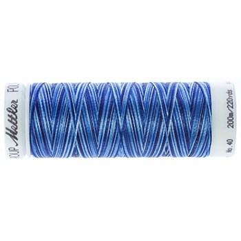 Mettler Poly Sheen Multi, Stärke: 40, 200m-Spule, blau color