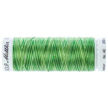Mettler Fil à coudre poly sheen multi, 200 m, vert multicolore