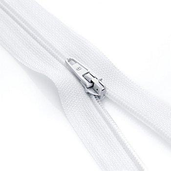 buttinette Standard-Reißverschluss, weiß, nicht teilbar