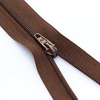 buttinette Standard-Reißverschluss, braun, nicht teilbar