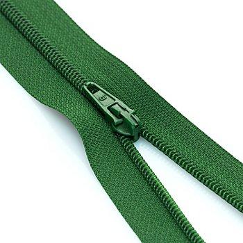 buttinette Fermeture à glissière, vert, non séparable