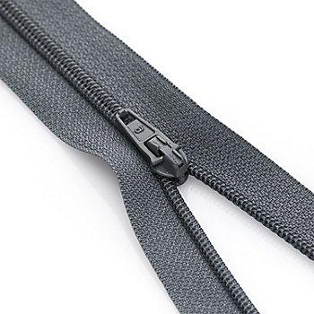 buttinette Fermeture à glissière, gris, non séparable