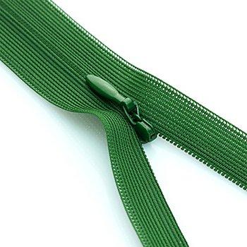 buttinette Nahtverdeckter Reißverschluss, grün, nicht teilbar