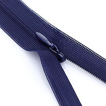 buttinette Nahtverdeckter Reißverschluss, marine, nicht teilbar
