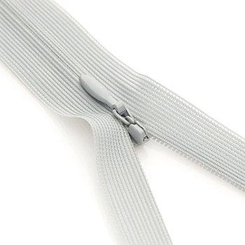 buttinette Fermeture à glissière invisible, gris clair, non séparable