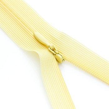 buttinette Nahtverdeckter Reißverschluss, gelb, nicht teilbar