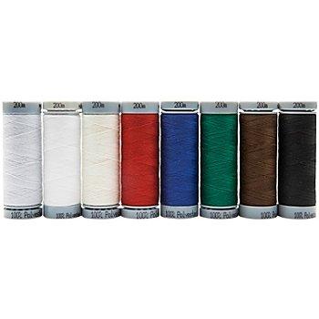 buttinette Set de fils à coudre, couleurs primaires, grosseur : 120 m, 200 m