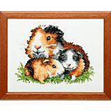 """Stickbild """"Meerschweinchen"""", 17 x 13 cm"""