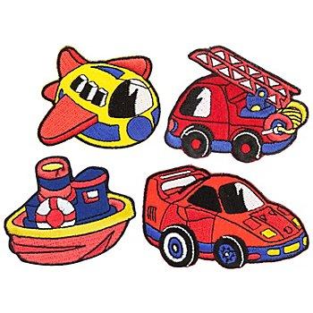 buttinette Applikationen 'Fahrzeuge', Größe: 5 - 8 cm, Inhalt: 4 Stück