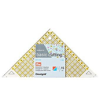 Prym Règle de découpe 'triangle', avec graduation en cm, dim. : 12,5 x 24 cm