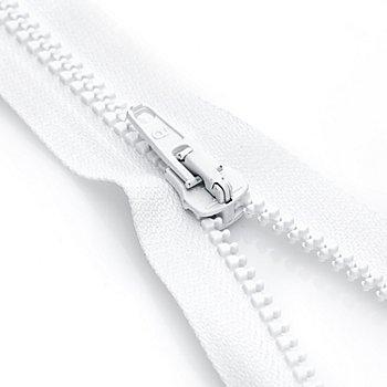 buttinette Reißverschluss mit Kunststoffkrampe, weiß, teilbar