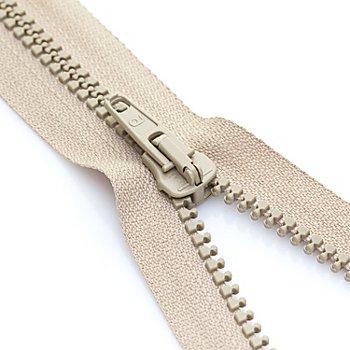 buttinette Reißverschluss mit Kunststoffkrampe, beige, teilbar