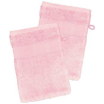 2er-Pack buttinette Walk-Frottier-Waschhandschuh, rosa