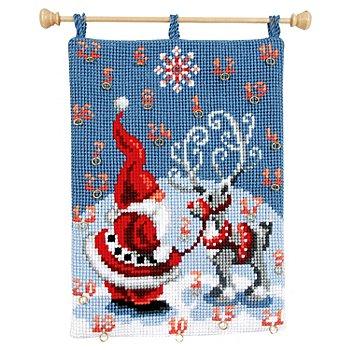 Calendrier de l´Avent 'Père Noël/renne'