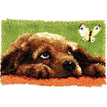 Knüpfteppich 'Hund' 53 x 39 cm