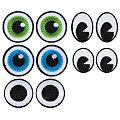 """buttinette Applications """"yeux"""", dim. : 2,1 - 3,0 cm, 10 pièces"""