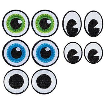 buttinette Applikationen 'Augenmix', Größe: 2,1 - 3,0 cm, Inhalt: 10 Stück