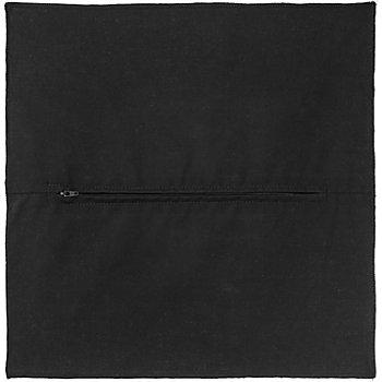 Dos de coussin, noir, 45 x 45 cm