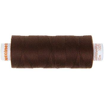buttinette Fil à coudre universel, chocolat, grosseur : 100, bobine de 500 m