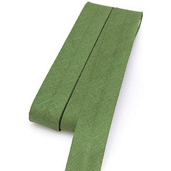 buttinette Baumwoll-Schrägband, moosgrün, Breite: 2 cm, Länge: 5 m