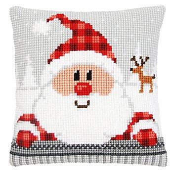 Kreuzstichkissen 'Weihnachtsmann'