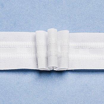 buttinette Ruban fronceur à 3 plis, largeur : 2,6 cm, longueur : 10 m, consommation tissu : 2,5:1