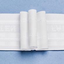 buttinette 3er-Faltenband, Breite: 5,0 cm, Länge: 10 m, Stoffverbrauch: 2,5:1