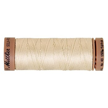 Mettler Silk Finish Cotton - Fil pour machine à coudre, champagne, grosseur : 40, 150 m