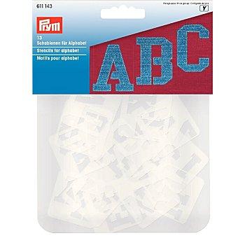 Prym Alphabet-Schablonen, Inhalt: 13 Stück