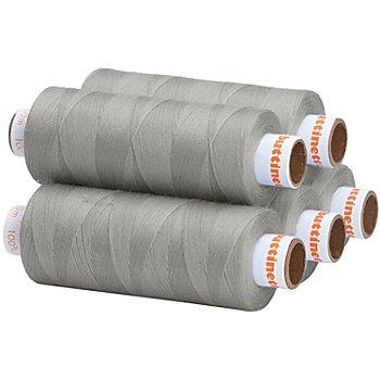 buttinette Universal-Nähgarn, Stärke: 100, 5er-Pack, stein