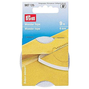 Prym Wonder Tape, selbstklebend, wasserlöslich, Breite: 6 mm, Länge: 9 m