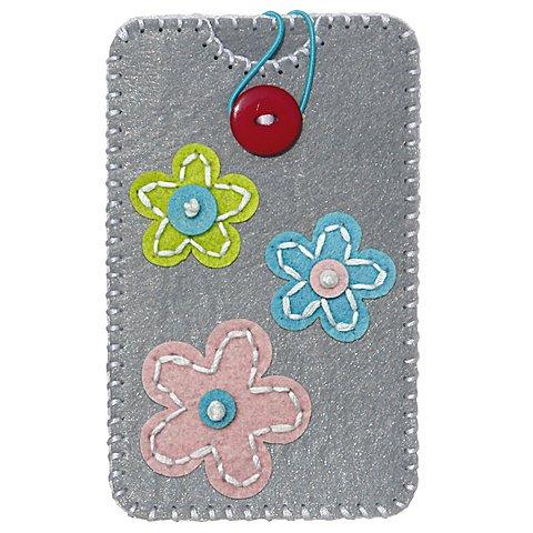 "Image of Kleiber Filz-Nähset ""Smartphone-Hülle"", Blumen, Grösse: 13,5 x 8,3 cm"