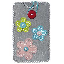 """Kleiber Filzbastel-Set """"Smartphone-Hülle"""", Blumen, Größe: 13,5 x 8,3 cm"""
