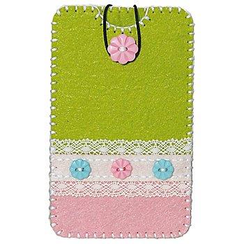 Kleiber Filzbastel-Set 'Smartphone-Hülle', grün-rosa, Größe: 13,5 x 8,3 cm