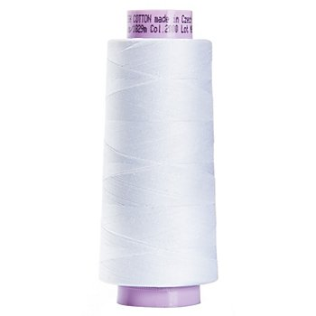 Mettler Silk Finish Cotton - Fil machine, blanc, grosseur : 50, 1829 m
