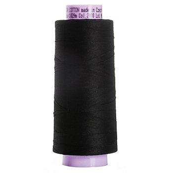 Mettler Silk Finish Cotton Maschinen- & Handquiltgarn, Stärke: 50, 1829m-Spule, schwarz