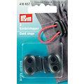 Prym Kordelstopper, schwarz, für Kordeln bis 5 mm Ø, Inhalt: 2 Stück